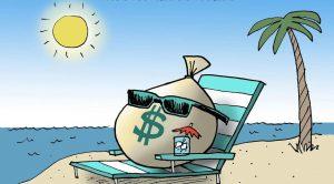 sacco_di_denaro_su_sdraio_al_mare